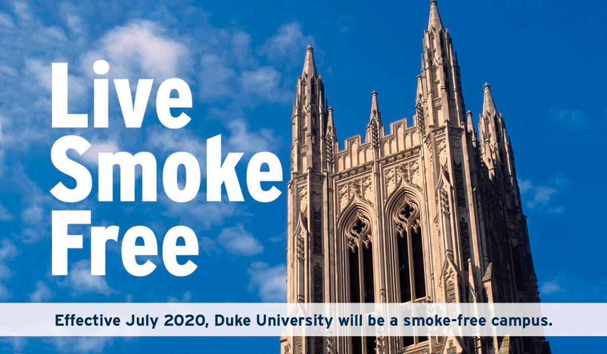 Duke University: fumar está prohibido, permitidos los cigarrillos electrónicos