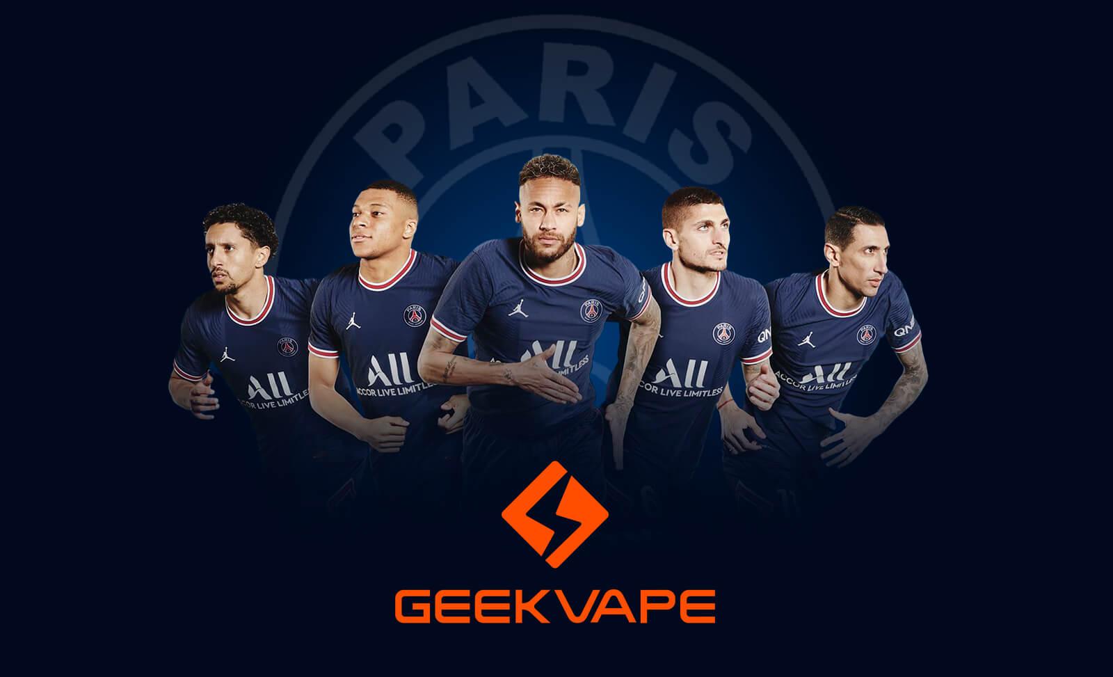 Geekvape anuncia su alianza con Paris Saint-Germain